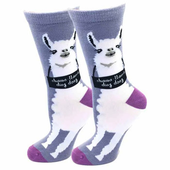 Shama Llama Ding Dong Women's Crew Socks