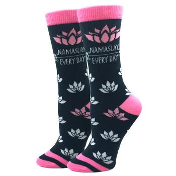 Namaslay Lotus Flowers Women's Crew Socks