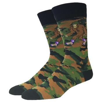 Camo Bigfoot Men's Crew Socks