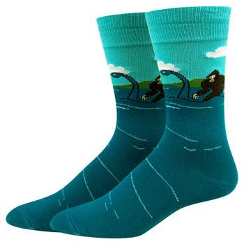 Bigfoot and the Loch Ness Monster Men's Crew Socks