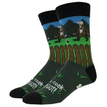 BBQ Bigfoot Men's Crew Socks