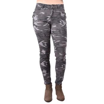 Gray Camo Skinny Jeans