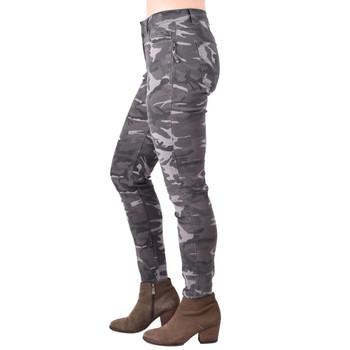 Gray Camo Skinny Jeans side view