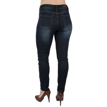 Ethyl Dark Blue Denim Skinny Jeans back view