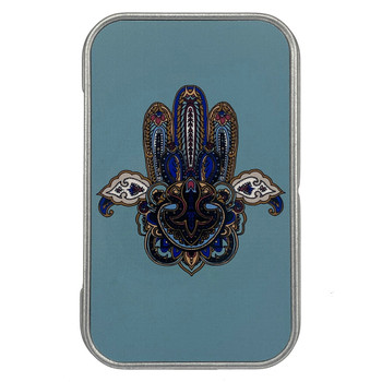 Tribal Hamsa Hand Small Metal Tin Box