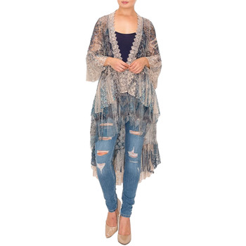 High-Low Bohemian Cardigan Lace Duster
