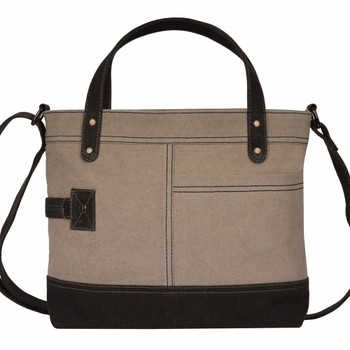 Mona B Jules Re-Cycled Canvas Crossbody Bag front view