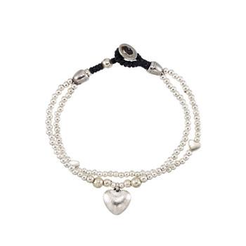 Two strand heart alloy bracelet.
