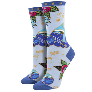 Laurel Burch Carlotta Cat Women's Crew Socks