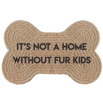 Fur Kids Braided Jute Pet Floor Mat