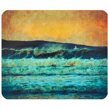 Grunge Surf Scene Mouse Pad Mat