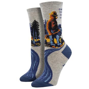 Smokey The Bear Prevent Wildfires Women's Crew Socks