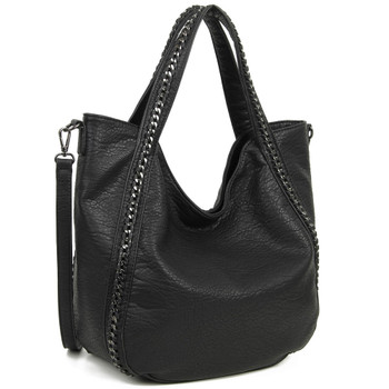 The Daphne Tote Black Purse front view