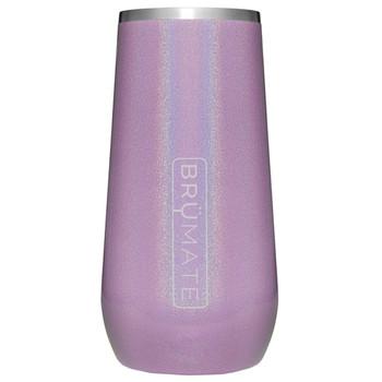BruMate Champagne Flute Glitter Violet front view