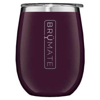 BruMate Uncorked Insulated Wine Tumbler Plum