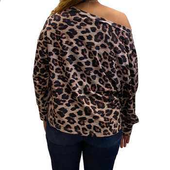 Leopard Animal Print Pullover Shirt back view