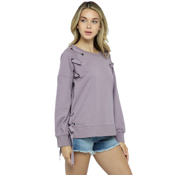 Vocal Apparel Light Purple Long Sleeve Sweatshirt