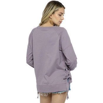 Vocal Apparel Light Purple Long Sleeve Sweatshirt back view