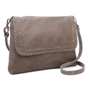 Crossbody Clutch Taupe Purse front view