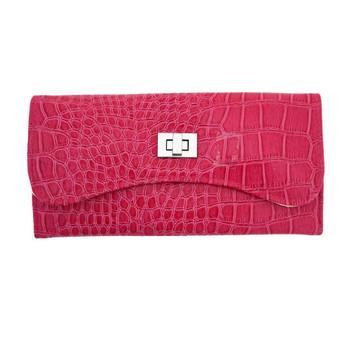 Pink travel jewelry case.