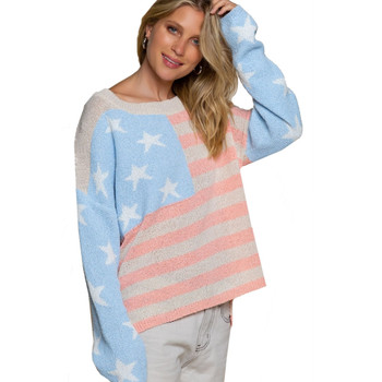Americana USA Flag Lightweight Sweater Top front view