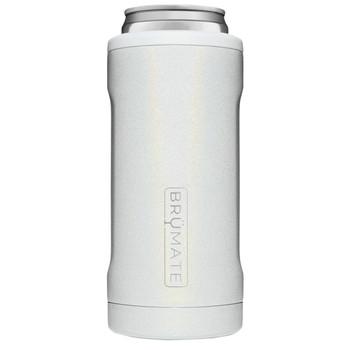 BruMate Hopsulator Slim Can Cooler Glitter White