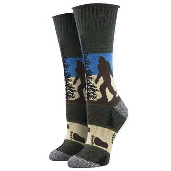 Bigfoot He Went That Way Outlands Men's Crew Socks