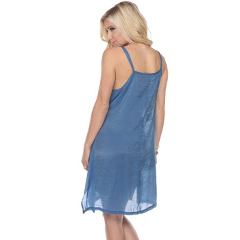 Blue Layering Tank Dress back view