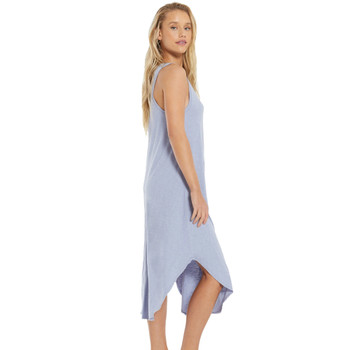 Z Supply Lavender Grey Cotton Midi Dress side view