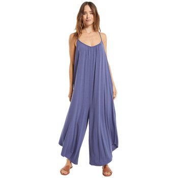 Z Supply Dark Indigo Flared Jumpsuit