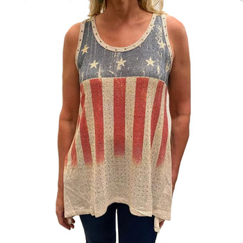Vocal Apparel Stars and Stripes Tank Top front view