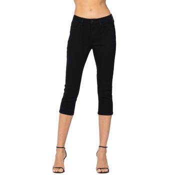 Judy Blue Mid-Rise Black Skinny Capri Jeans