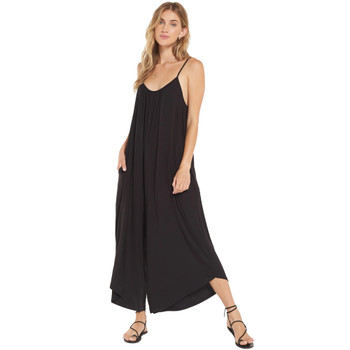 Z Supply Flared Wide Leg Black Jumpsuit