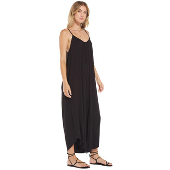 Z Supply Flared Wide Leg Black Jumpsuit side view