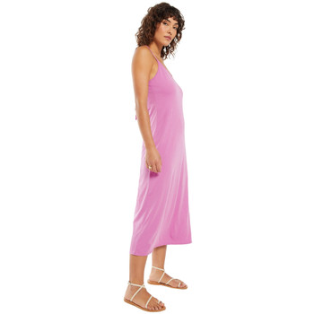 Z Supply Violet Pink Organic Cotton Slip Dress side view