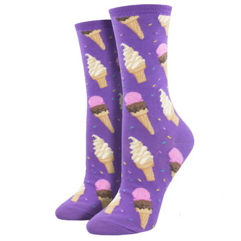 Ice Cream Cones Women's Crew Socks