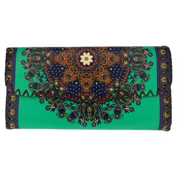 Floral Mandala Leatherette Wallet