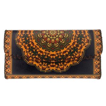 Tribal Mandala Printed Leatherette Wallet