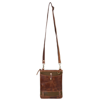 Canvas and Leather Crossbody Purse strap view