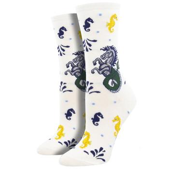 Hippocampus Sea Horses Women's Crew Socks