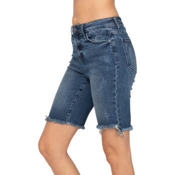 Judy Blue Cut Off Bermuda Shorts front view