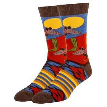 Armadillo Rodeo Men's Crew Socks