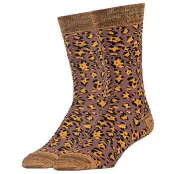 Leopard Print Men's Crew Socks