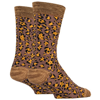 Leopard Print Men's Crew Socks back view