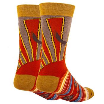 Desert Sun Rays Men's Crew Socks