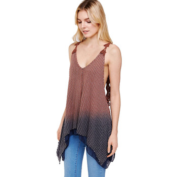 Ombre Wash Layering Tank Top front view