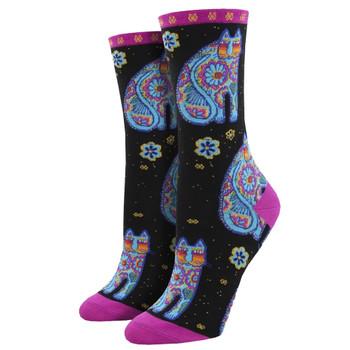Thanks Kitty Cat Women's Crew Socks