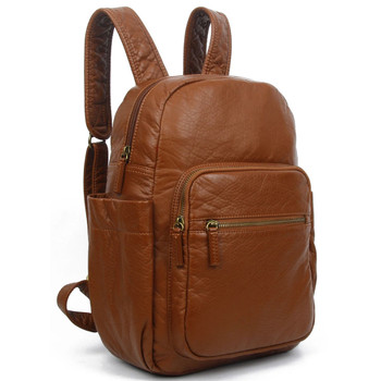 Brown Backpack Purse front view