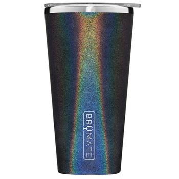 BruMate Imperial Pint Glass Tumbler Glitter Charcoal