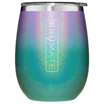 BruMate Uncorked Insulated Wine Tumbler Glitter Mermaid